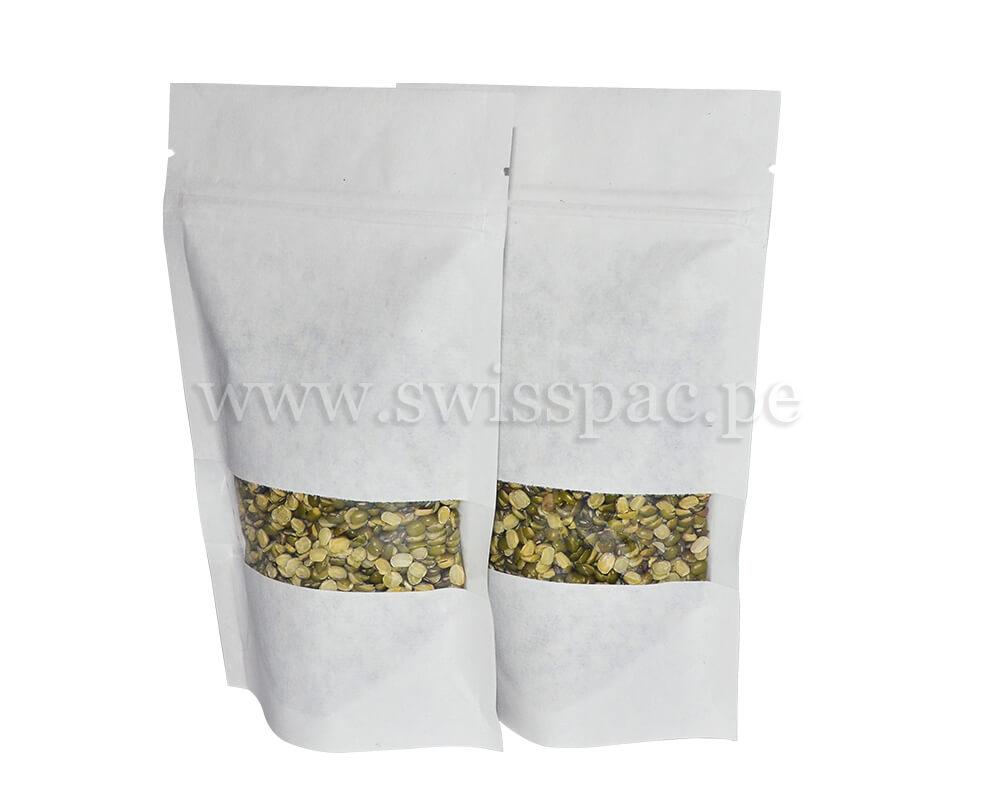 bolsas papel blanco con ventana