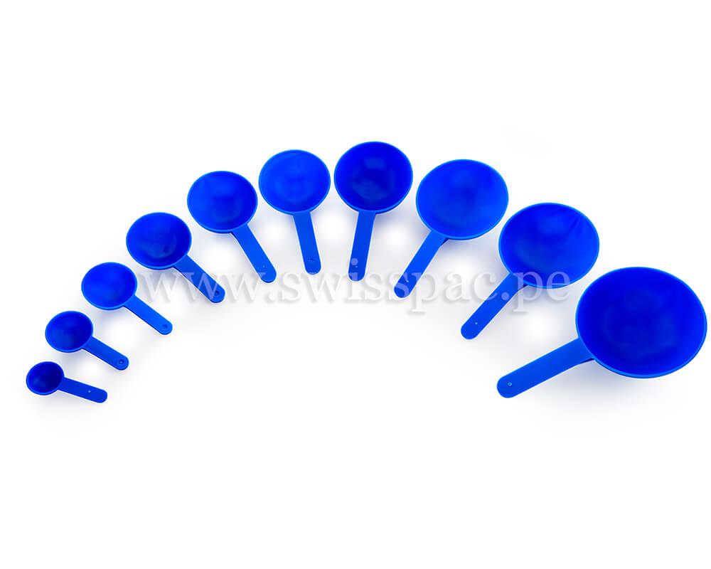 Cucharas medidoras azules
