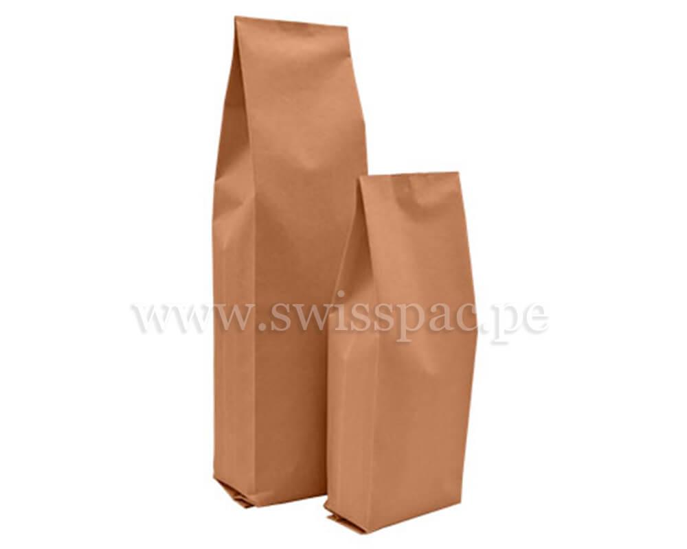 Bolsas con fuelle en Papel Kraft