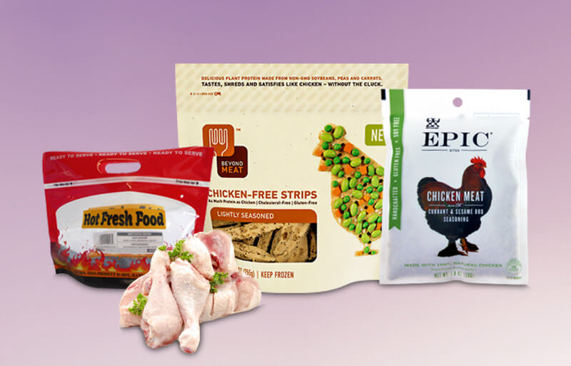personalizado bolsas para pollo
