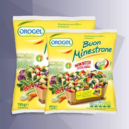 Paquete de alimentos congelados