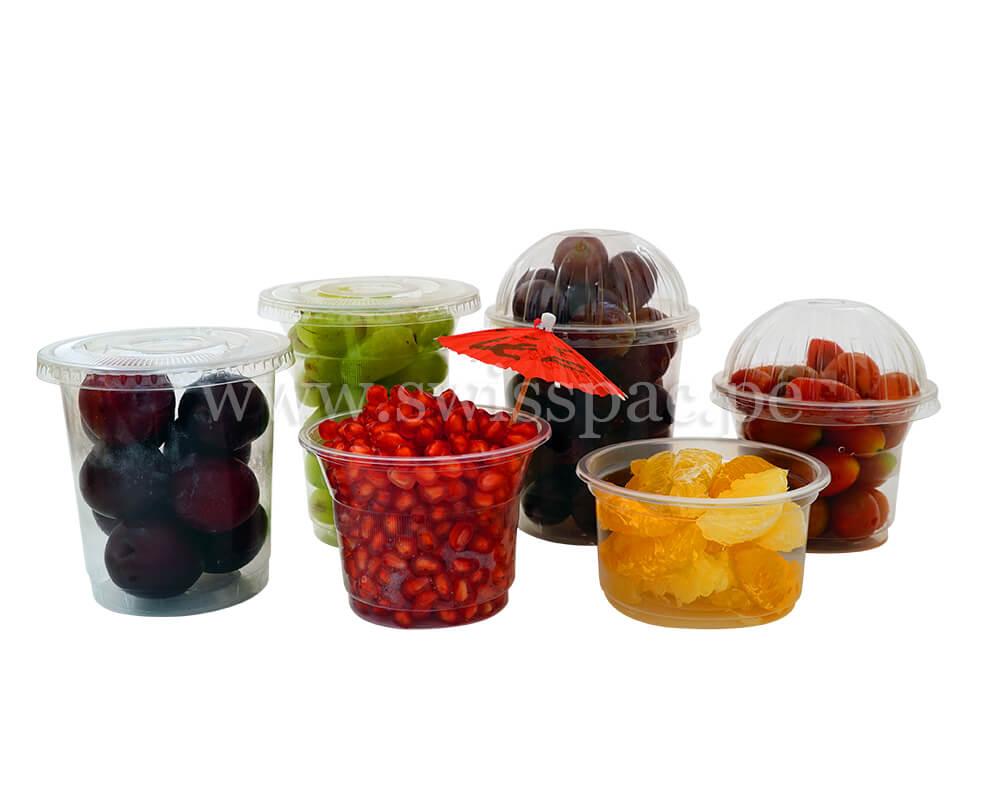 Mezcla de tazas de frutas