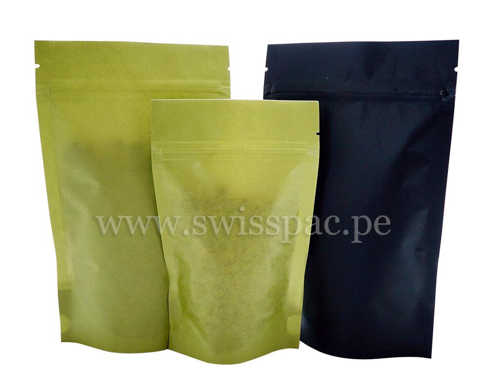 Bolsas de papel verde y negro
