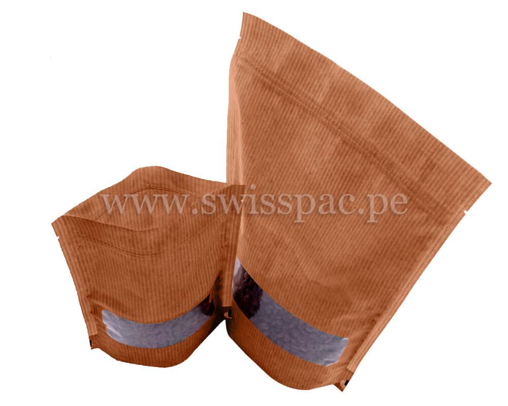 Bolsass con aspecto papel kraft marrón