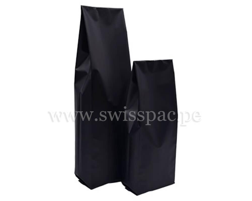 Bolsas con fuelle lateral en Negro Mate