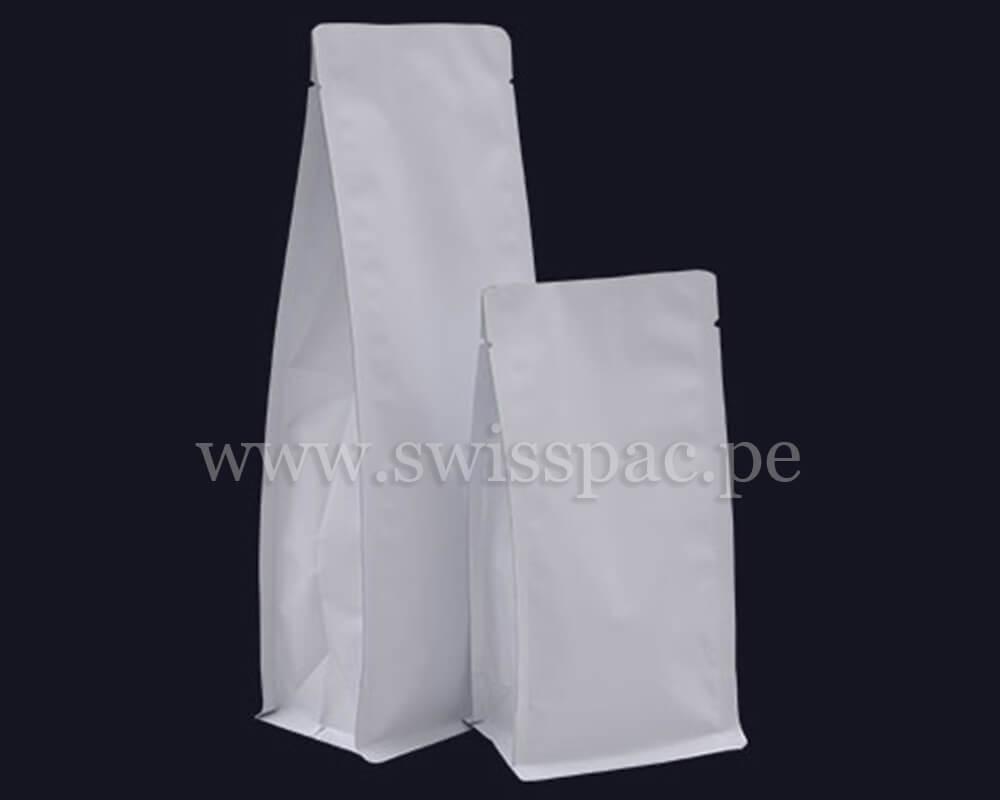 Bolsas de Fondo Plano Blancas SIN zipper