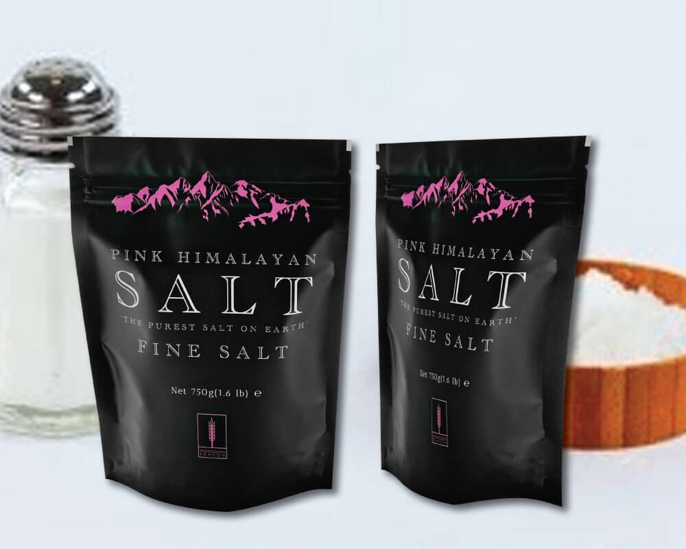 Empaquetado de sal de baño